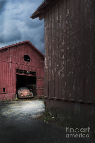 Green Car Photograph - Barn Find by Edward Fielding