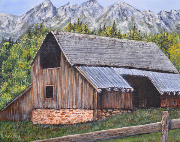 Painting - Barn From Yesterday by Nancy Lauby