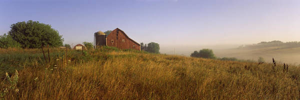 Peacefulness Photograph - Barn In A Field, Iowa County by Panoramic Images
