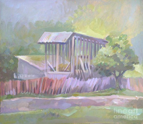 Moldova Wall Art - Painting - Barn In Agarcia by Filip Mihail