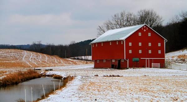 Photograph - Barn In Berlin Ohio by Dan Sproul