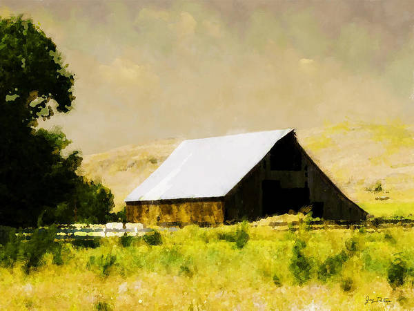 Barn In Pasture   Art Print