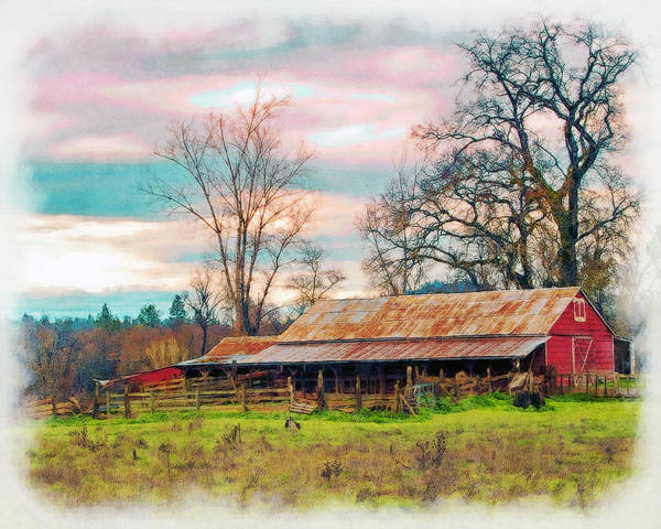 Photograph - Barn In Penn Valley Painted by William Havle