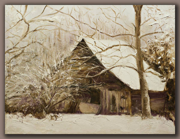 Painting - Barn In Snow by Kathy Knopp