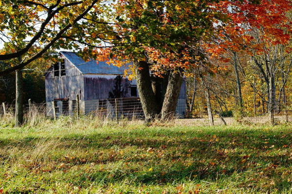 Photograph - Barn In The Fall by Mike Murdock