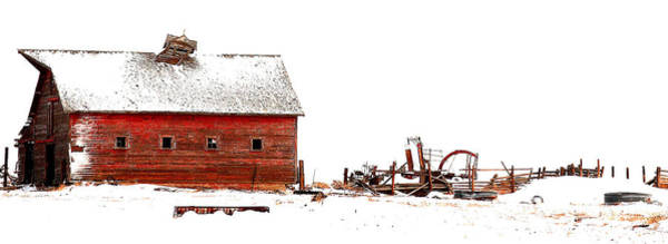 Wall Art - Photograph - Barn In The Snow by Steven Reed