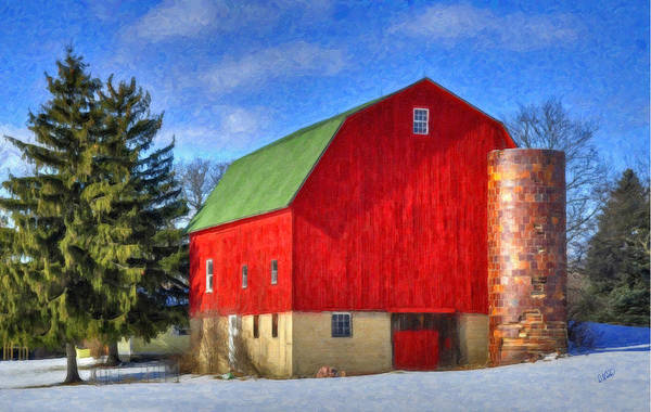 Painting - Barn In Winter by Dean Wittle