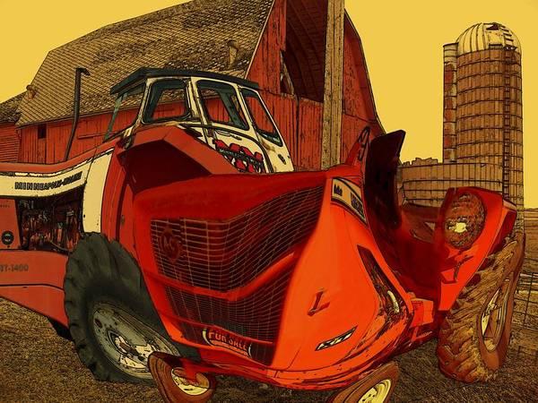 Digital Art - Barn Mayhem by Tristan Armstrong