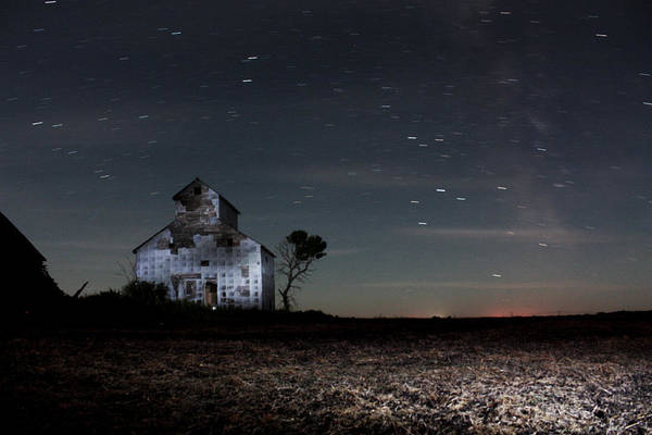Photograph - Barn Night by David Matthews