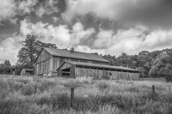 Photograph - Barn On A Hill by Guy Whiteley