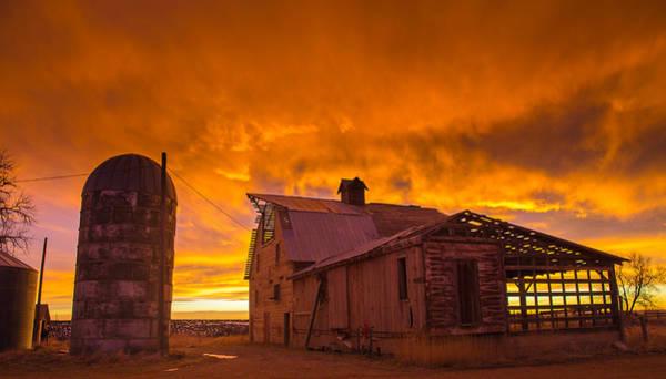 Allure Wall Art - Photograph - Barn On Fire by Bridget Calip