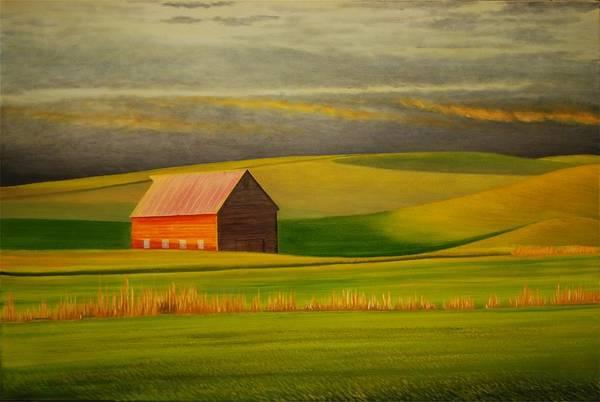 Wall Art - Painting - Barn On The Palouse by Leonard Heid