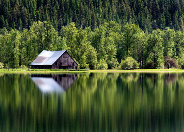 Crumble Photograph - Barn On Turtle Lake by Theodore Clutter