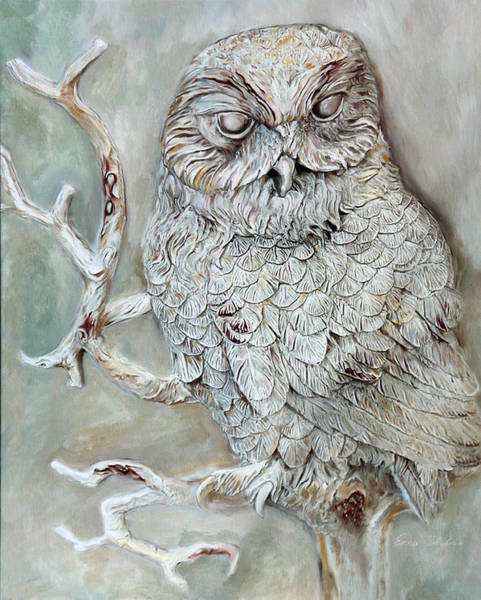 Painting - Barn Owl by Portraits By NC