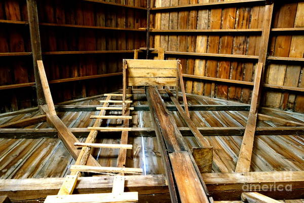 Photograph - Barn Rafters 2 by Jacqueline Athmann