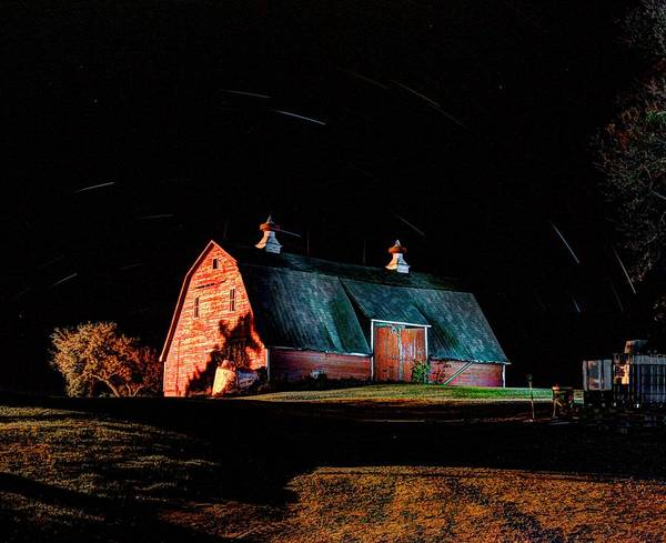 Photograph - Barn Stars by David Matthews