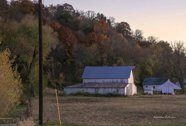 Photograph - Barn Sunset by Edward Peterson