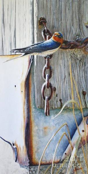Painting - Barn Swallow by Greg and Linda Halom