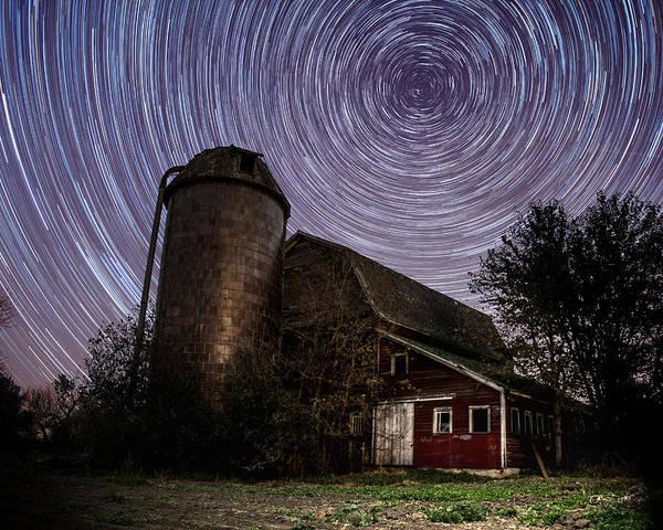 Photograph - Barn Trails by Aaron J Groen