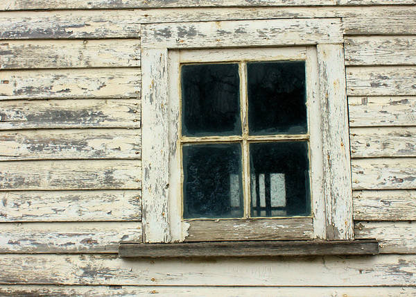 Photograph - Barn Window Detail by Gerry Bates