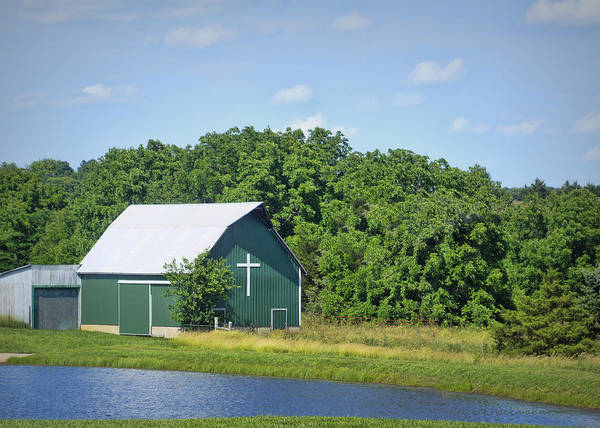 Photograph - Barn With A Cross by Cricket Hackmann