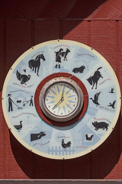 Rooster Photograph - Barn Yard Clock by Garry Gay