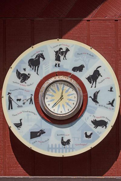 Horse Barn Photograph - Barn Yard Clock by Garry Gay