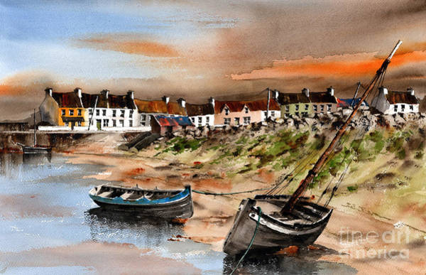 Painting - Barna Sunset Galway by Val Byrne