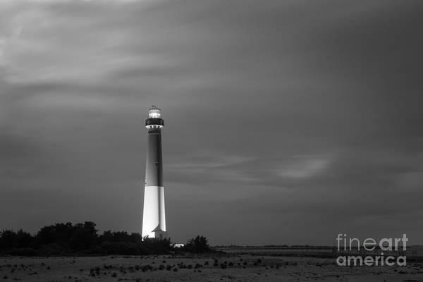Barnegat Lighthouse Photograph - Barnegat Lighthouse Black And White by Michael Ver Sprill