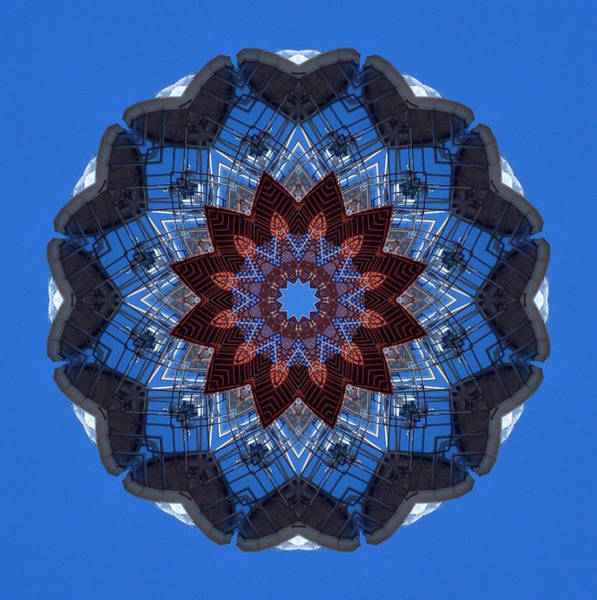 Photograph - Barnegat Lighthouse Mandala by Beth Sawickie