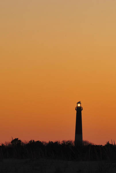 Photograph - Barnegat Lighthouse Sunset Silhouette  by Terry DeLuco