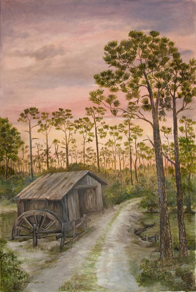 Northwest Florida Painting - Barnett Mill by Deanna Sue Dyess