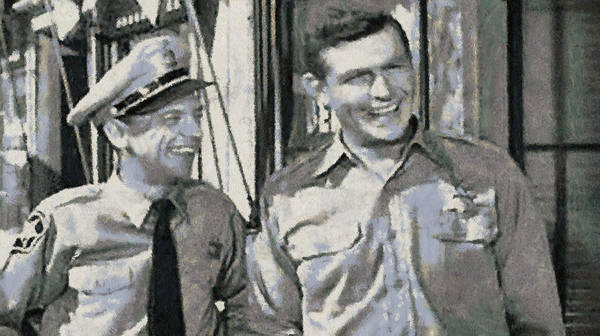 Photograph - Barney Fife And Andy Taylor by Paulette B Wright