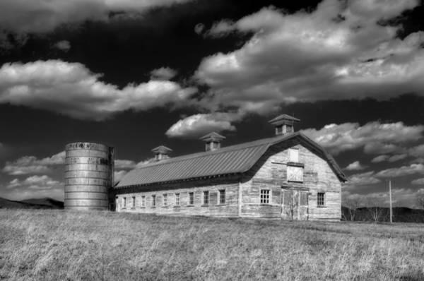Timeworn Photograph - Barns Are Beautiful II Bw by Steve Hurt