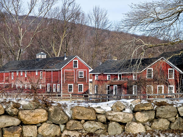 Photograph - Barns In Winter by Jim DeLillo
