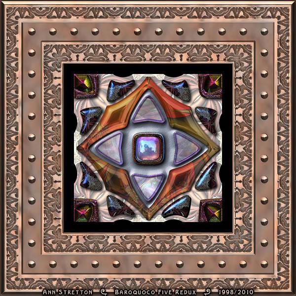 Digital Art - Baroquoco Five  by Ann Stretton