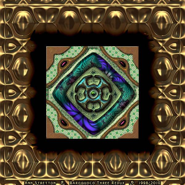 Digital Art - Baroquoco Three  by Ann Stretton