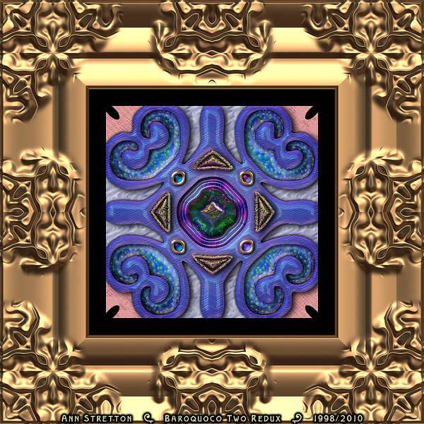 Digital Art - Baroquoco Two  by Ann Stretton