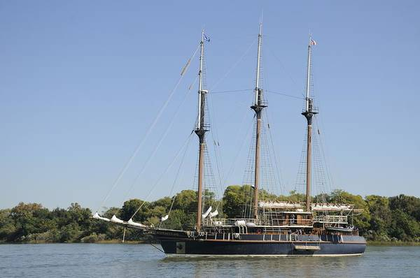Photograph - Barquentine Peacemaker On The Savannah River by Bradford Martin