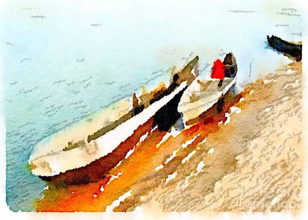 Barques Sur Le Chari Art Print