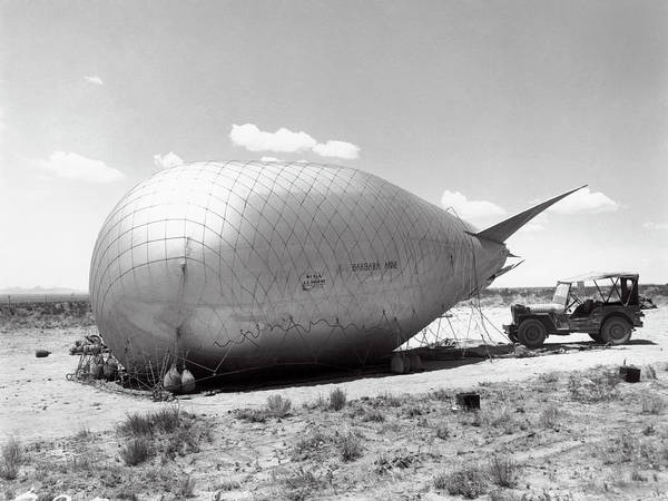 Nuclear Bomb Wall Art - Photograph - Barrage Balloons Used At Trinity Test by Los Alamos National Laboratory/science Photo Library