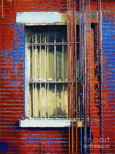 Painting - Barred Window Hell's Kitchen by RC DeWinter