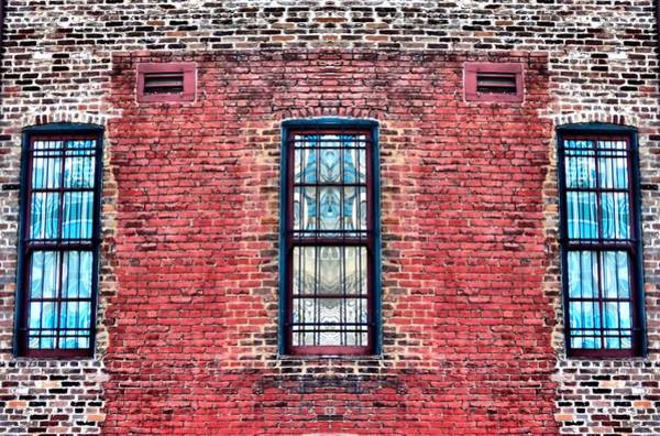 Photograph - Barred Windows On Brick by Dan Sproul