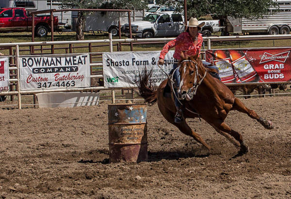 Wall Art - Photograph - Barrel Racing 11 by Mike Turner