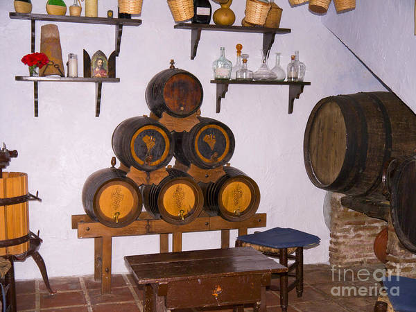 Photograph - Barrels Of Sunshine Wine In Frigiliana by Brenda Kean
