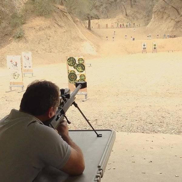 Rifles Photograph - #barret #416 #shooting #rifle #oaktree by Juan Guevara
