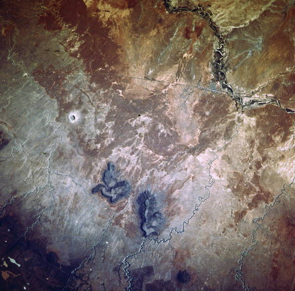 Meteor Crater Photograph - Barringer Crater by Nasa/science Photo Library