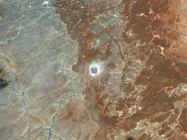 Meteor Crater Photograph - Barringer Crater by Planetobserver/science Photo Library