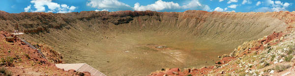 Meteor Crater Photograph - Barringer Crater by Tony Craddock/science Photo Library