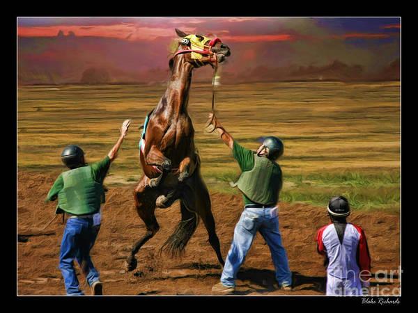 Photograph - Barrington Harvey Looks On Horse Peekarandoconer Moment by Blake Richards